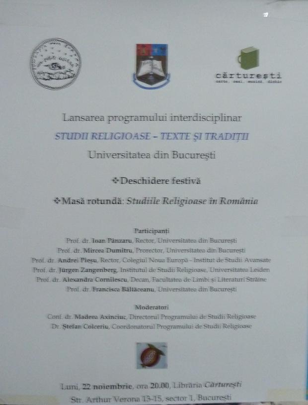 Studii religioase- Texte și tradiții