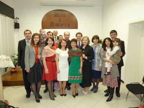 o parte din membri biserici BCB Betania Brescia împreună cu un grup de la BCB Sf Treime Braila