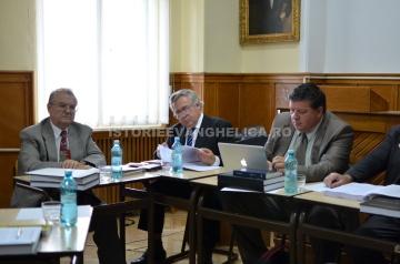 Comisia de doctorat cu Prof. Dr. Vasile Talpoș, Prof. Dr. Isiodor Martinca, Prof. Dr. Otniel Bunaciu