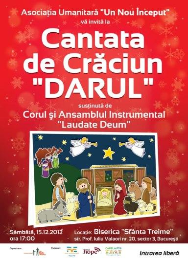 Afis Concert de Craciun BCB Sfanta Treime Bucuresti 2012