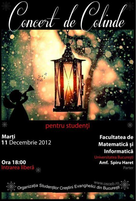 Concert de Colinde la Universitatea București (facebook.com/monica.cuculea)