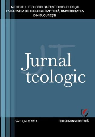 Copertă Revista Jurnal Teologic Nr. 2-2012