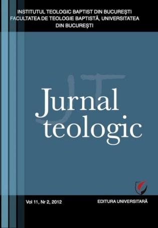 Copertă Revista Jurnal Teologic Nr. 2-2012