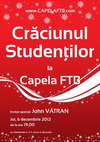 Craciunul studentilor la Capela FTB - 6 decembrie 2012