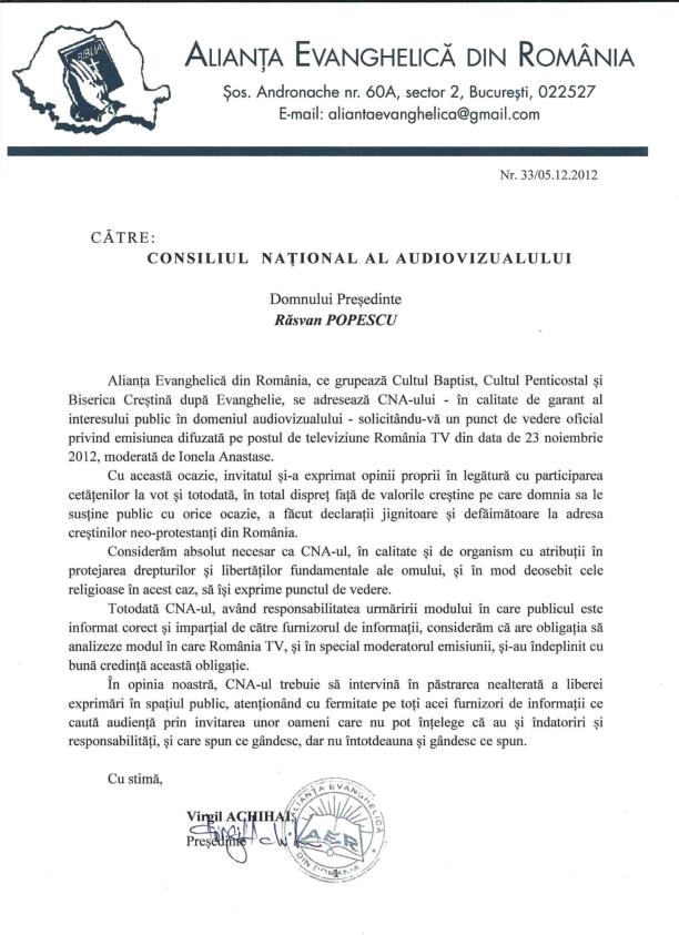 Sesizare AER către CNA nov 2012