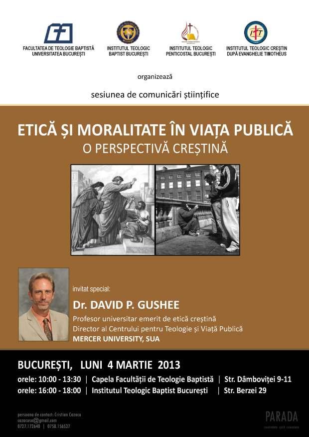 Afis Etica si spiritualitate in viata publica