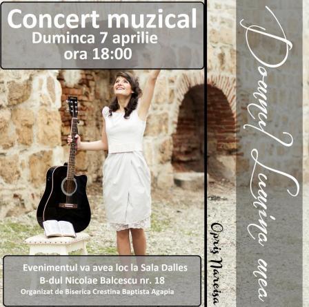 Afis Concert Narcisa Opriș la BCB Agapia Bucuresti - 7 aprilie 2013
