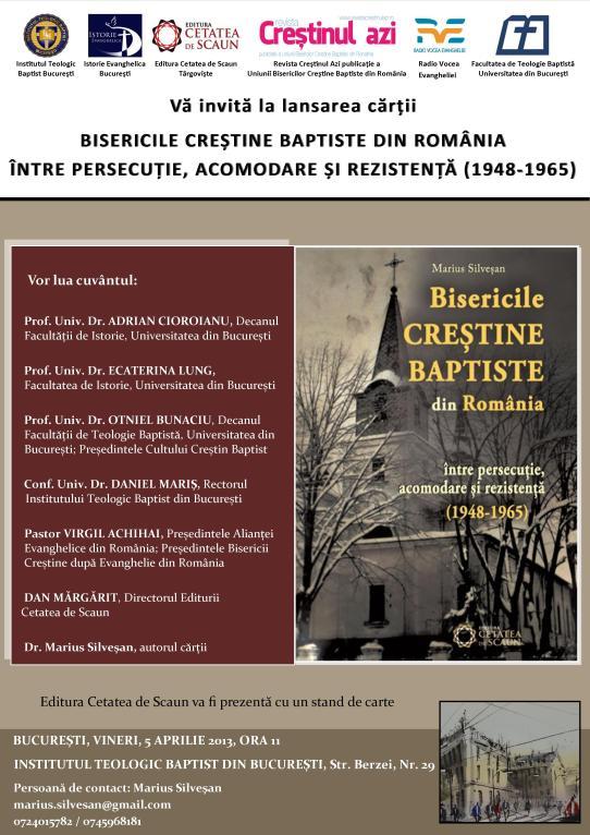 Afis lansare carte BCB din Romania 1948-1965(7) umbra cadru text