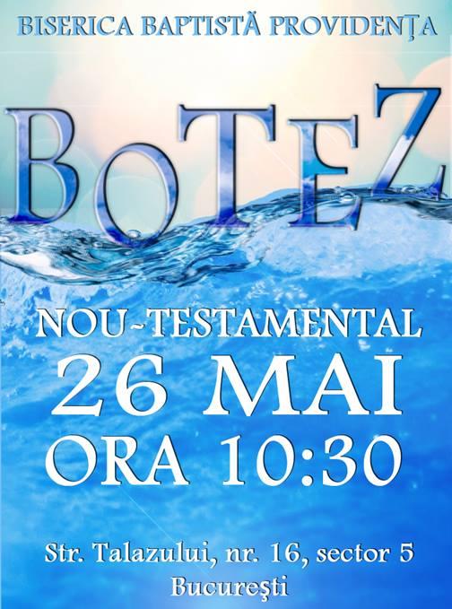 Botez nou testamental la Biserica Providenta - mai 2013