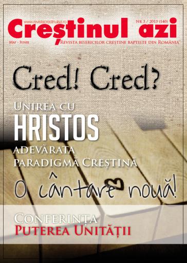 Crestionul Azi Nr. 3- 2013 Coperta I