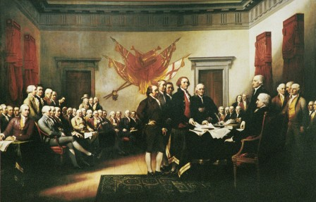 Semnarea Declaratiei de insependenta a SUA - 1776 (thegospelcolaition.org - 4.07.2013)