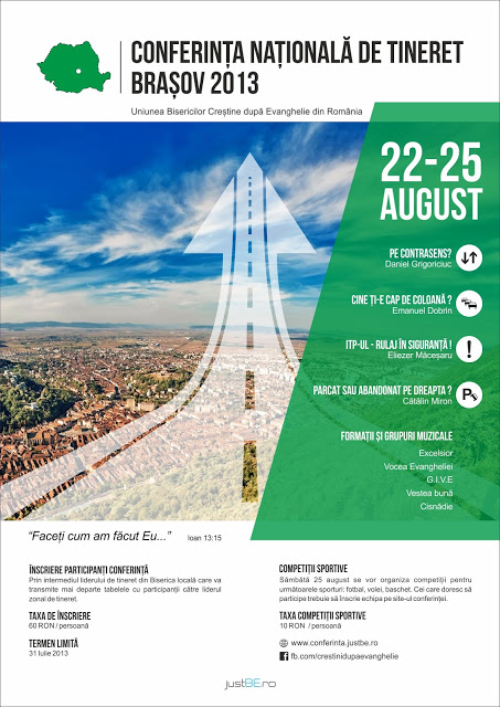 Afis Conferinta Nationala de tineret a UBCER 2013