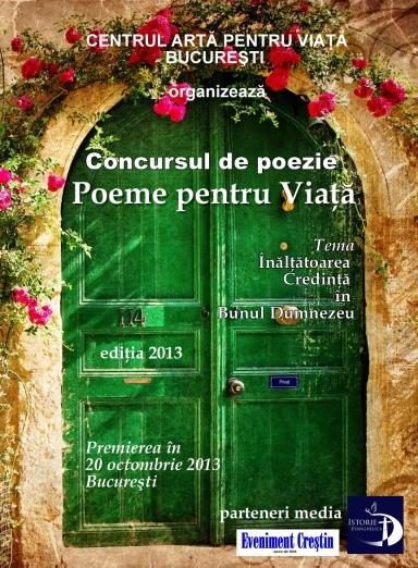 CONCURSUL DE POEZIE Poeme pentru viata 2013