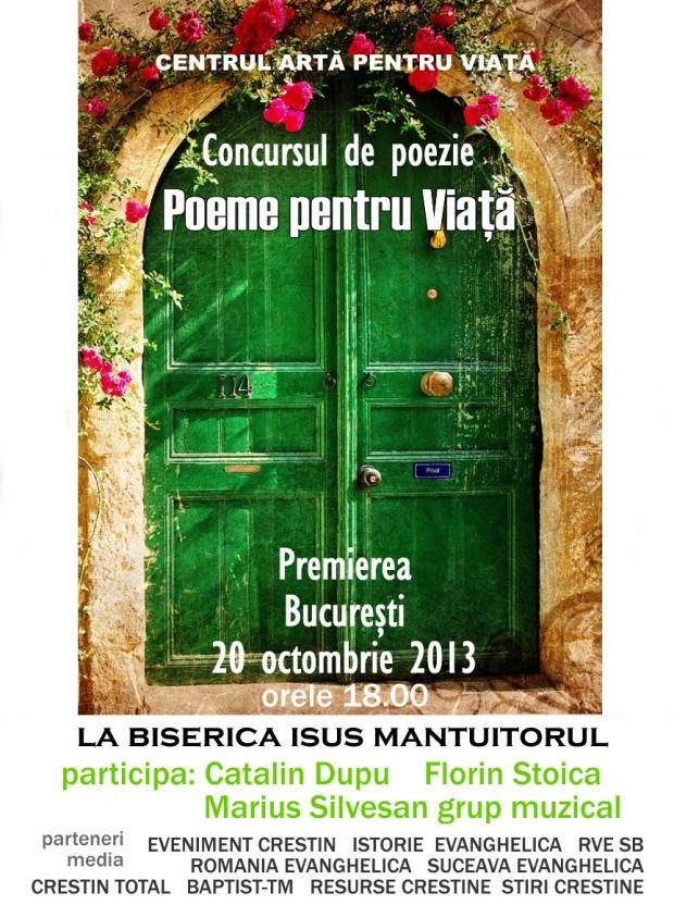 premierea CONCURSUL DE POEZIE 2013_poeme pentru viata