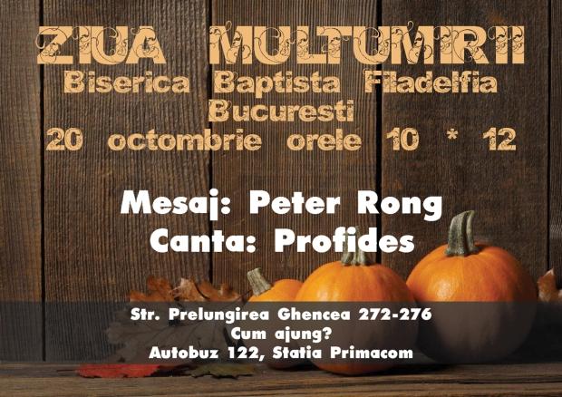 Ziua multumirii la Biserica Baptistă Filadelfia Bucuresti - octb 2013