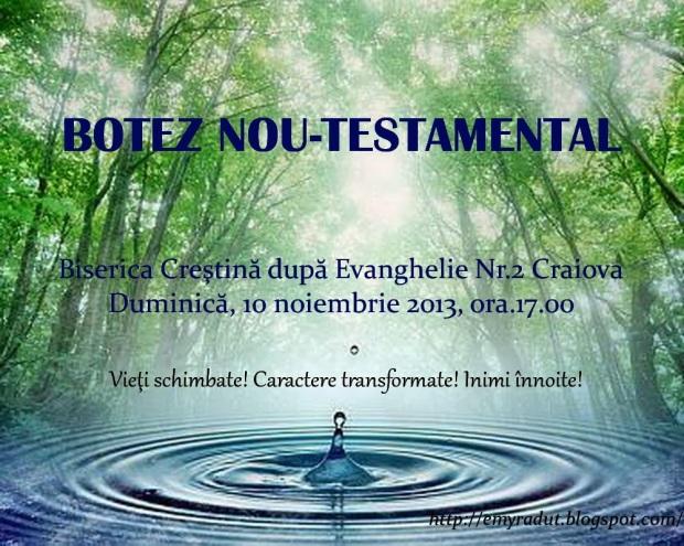 Afis botez la BCE Nr. 2 Craiova 2013