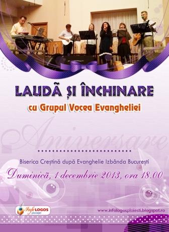 Grupul Vocea Evangheliei-Izbanda-2013