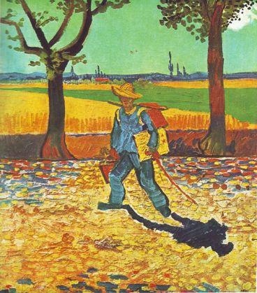 Vincent Van Gogh - Pictorul în drumul său către muncă (wikipedia)
