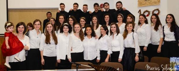 Corul BCEv Izbânda împreună cu Dorothea Caraman (22.12.2013)