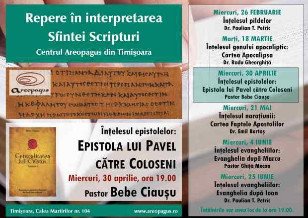 Areopagus Repere in interpretarea Sfintei Scripturi  Bebe Ciausu 1