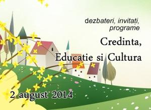 Masă rotundă Credinta, educatie si cultura. Corbu 2014