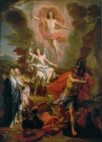 Noel Coypel, The res.urrection of Christ (1700) (en.wikipedia.org)