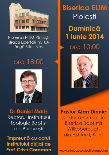 Dr. Daniel Mariș și Corul studenților ITBB la Elim Ploiesti-1iun2014