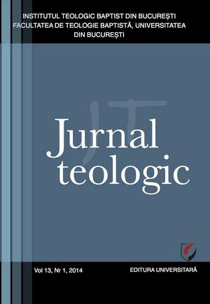 Jurnal Teologic, Nr. 1-2014