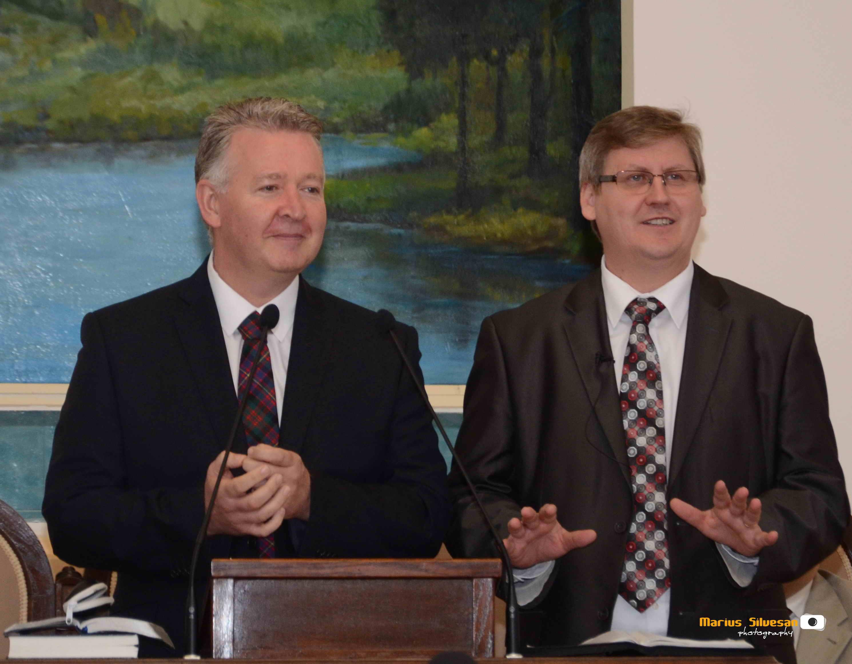 Stuart Blythe, Rectorul IBTS și Daniel Mariș