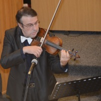 Cristian Caraman cu vioara (21.12.2014)
