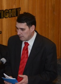 Marius Silveșan la prezentarea cărții Ambasadorul