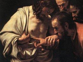 Caravaggio - La incredulidad de santo Tomás (Toma)