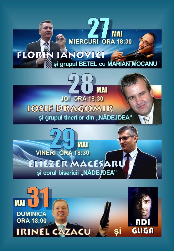 Afiș Evanghelizare BCB Nădejdea - mai 2015