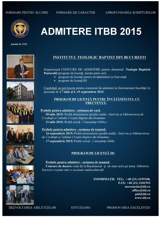ITBB AdmitereA4-2015