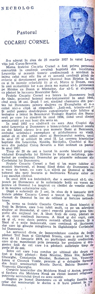 ICB An XXXIII, Nr 5-6 1978 Necrolog Cocariu Cornel_020