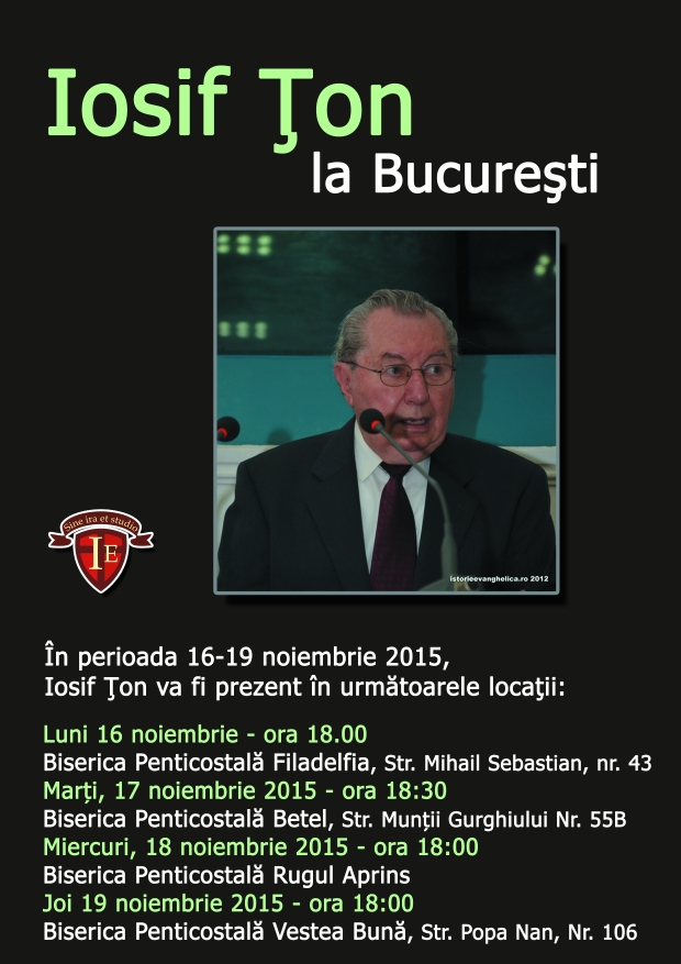 Afis Iosif Țon la București - nov 2015