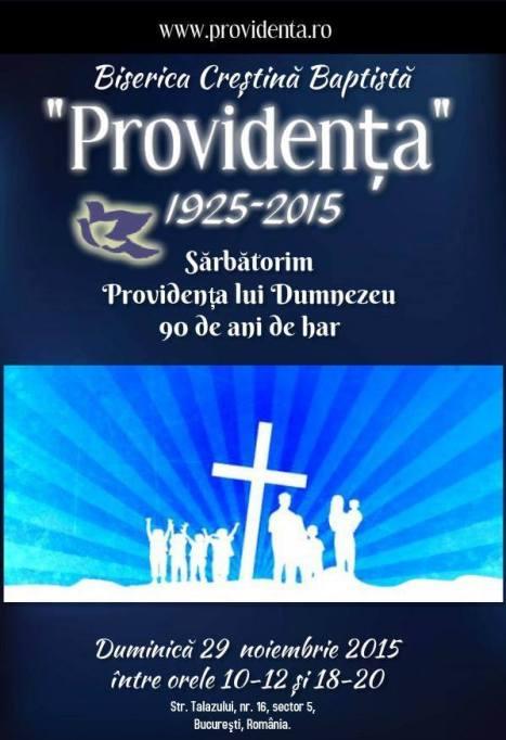 Biserica Crestina Baptistă Providența București - 90 de ani