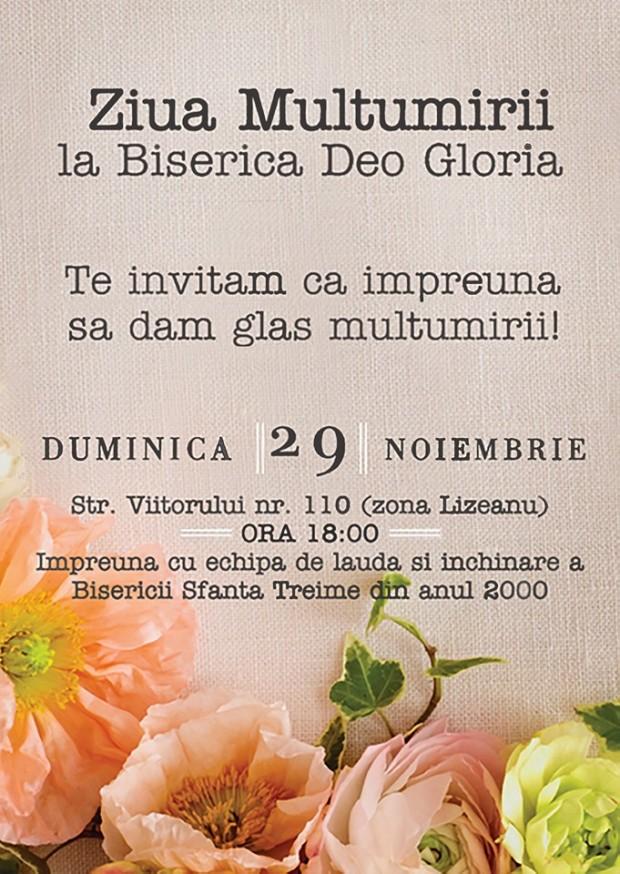 Ziua multumirii la Biserioca Deo Gloria