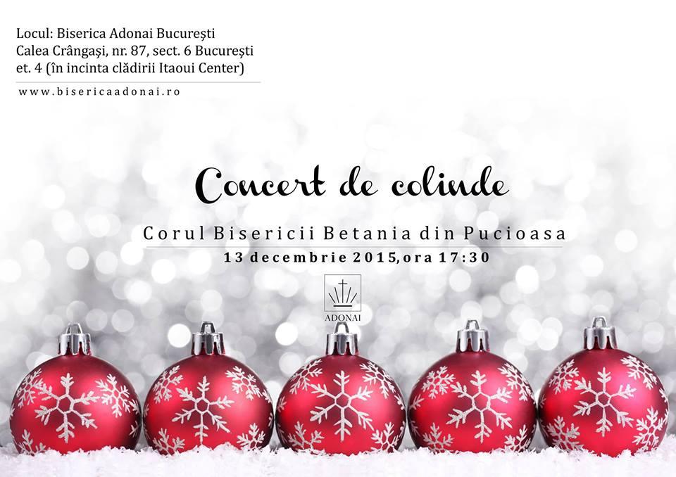 Concert de colinde cu Corul Bisericii Betania din Pucioasa la BCB Adonai București (13.12.2015)