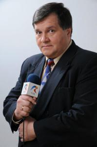 Cristi Țepeș cu microfonul TVR