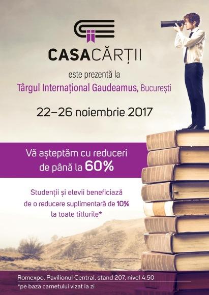 Editura Casa Cărții la Târgul de carte Gaudeamus 2017